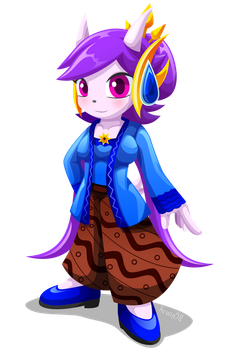 Lilac as Javanese dragon girl by Arung98