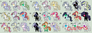 Pony Adoptable Batch 1 open~ by YosafireDemon