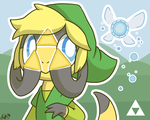 Helioptile is Secretly a Triforce by OEmilyThePenguinO