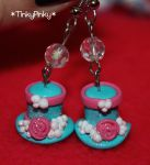 Madhatter's top hat earrings by tinkypinky