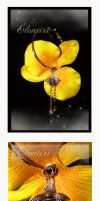 Yellow Orchid Earrings by Aeltari