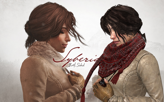 SYBERIA 3 - KATE WALKER V2 -SCARF AND HEART by Oo-FiL-oO