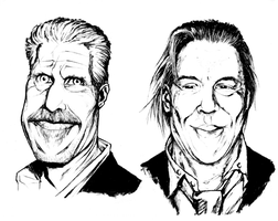 Ron Perlman/Mickey Rourke Caricatures by JZINGERMAN