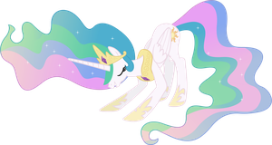 Princess Celestia Bowing by 90Sigma
