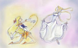 Sailor Scouts - Elegance by perishing-twinkie