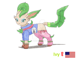 Ivy the Leafeon by Sir-Genesis