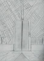 Random sketch of a elevator by zenkai97