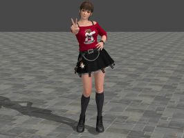 DOA5 LR Hitomi Costume 9 (Updated) by zareef