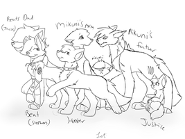 Mikunis family by Letipup