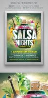Salsa Latin Flyer by designercow