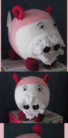 Flying Pig Pinky - Sock Doll by Black-cat-lover