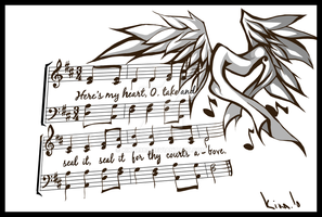 music tattoo:commission by kika1983