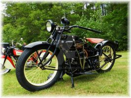 Henderson Motorcycle by Keziamara