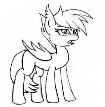 My first drawing of a Batpony by AngelDiaz95
