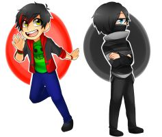 Jett And Zane (Chibi) by jettnight