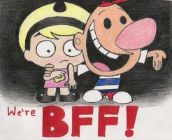 BFFs- Billy and Mandy by X-Luminescence