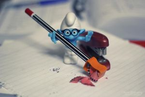 smurf in my office 2 by hotamr
