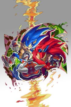 Sonic and Knuckles 25th Anniversary by BahamutAXIOM