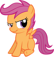 Smirking Scootaloo by DeadParrot22