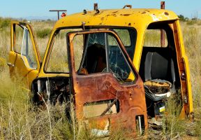 Old wrecked truck by lawout16