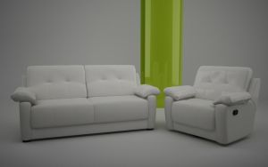 Couch and Chair (C4D Model) by jediz