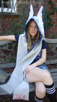 OOAK Thor Winged Scarf Hood Scood by IdentityPolution