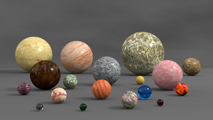 Mineral Spheres by mlindeart