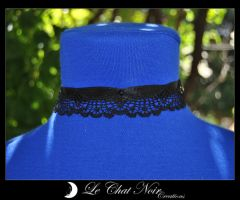 Lace and Satin Collar by LeChatNoirCreations