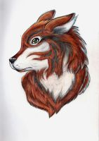 Red Wolf by Dyewind
