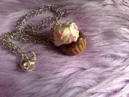 Buttercream Cupcake Necklace by PinkCakes
