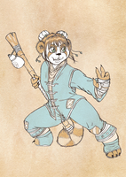 Commission: Ling Daiyu Stormpaw by SketchyBailey