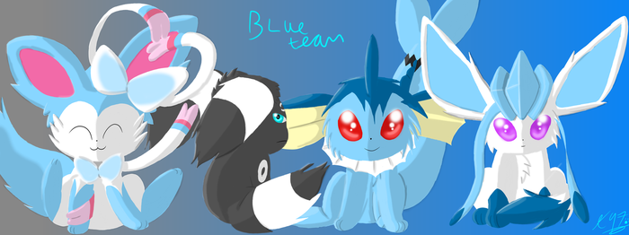 Team Chibi Blue (contest entry) by Axial97