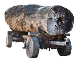 Log Cart by Digimaree