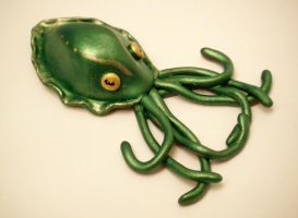 Green Cuttlefish Pendant by KimsButterflyGarden