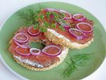 Cream Cheese and Gravlax Bagel by Kitteh-Pawz