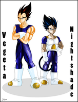 Vegeta and Nightshade :Comm: by Martyna-Chan