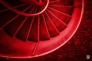 Red stairs by sylvaincollet