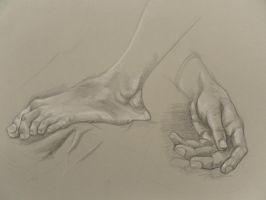 Hand and Foot study by BrothaBlu