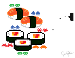 Sushi Invaders by fignutss