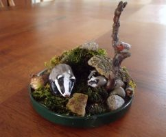 Badger family by curry-brocoli