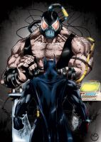 Batman x Bane by MarcBourcier