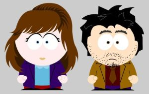 Alice and Hatter go Southpark by Bass-pick