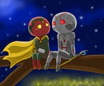 Vision and Ultron by Crazydog12