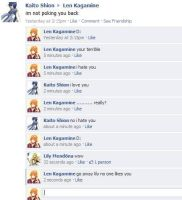 Vocaloid Facebook:Poke War by NessSophie