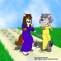 Cindy and Katie Down a Trail by KBAFourthtime