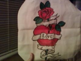 heart and rose revamp  bag by asharceneaux