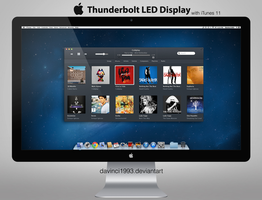 Apple Thunderbolt Display: PSD | PNG | ICO | ICNS by davinci1993