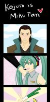 Kojuro is Miku fan by PhantomAllice