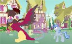 Never mess with a draconequus by Darkpaw-Lights
