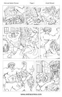 Hulk and Spider-Woman sequential page 2 by AndrePaploo